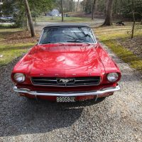 Beautiful candy apple red 1965 V8 Convertible Ford Mustng